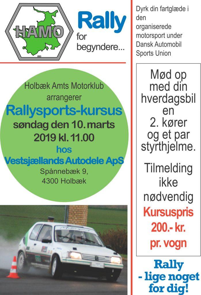 Klubrallykursus - Vestsj. Autodele Holbæk @ Vestsjællands Autodele ApS Holbæk