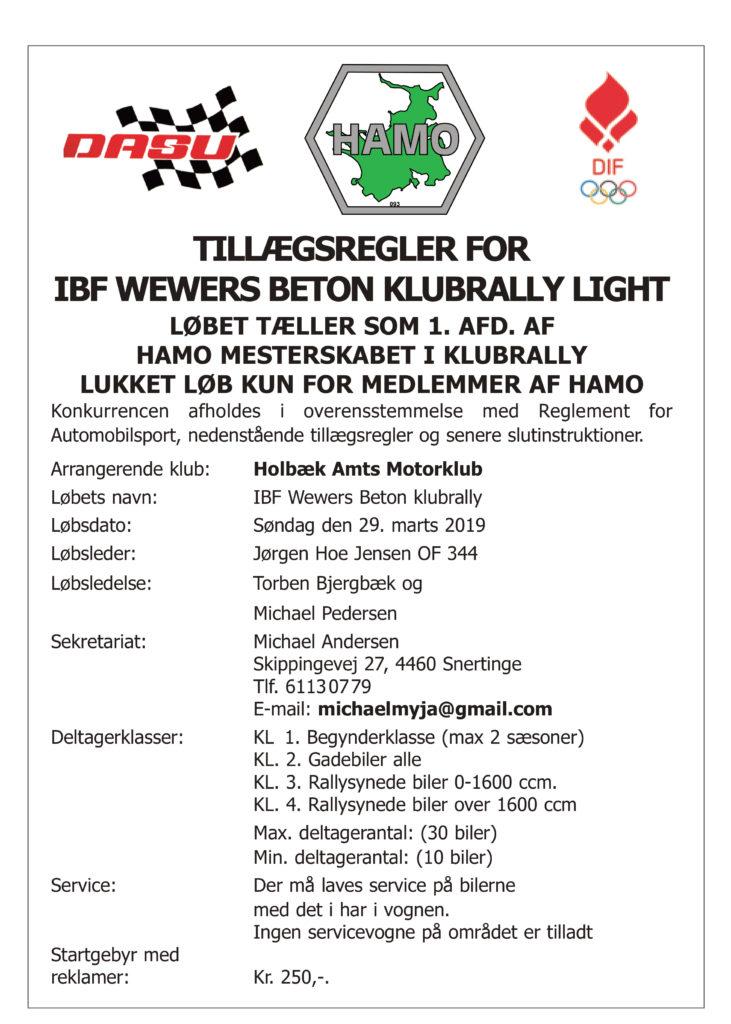 Klubrally - HAMO1 - IBF Beton @ IBF Mørkøv